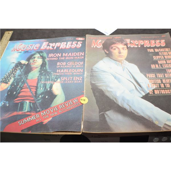 Vintage Music Express magazine