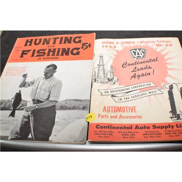 1943 Hunting magazine & 1954 catalog