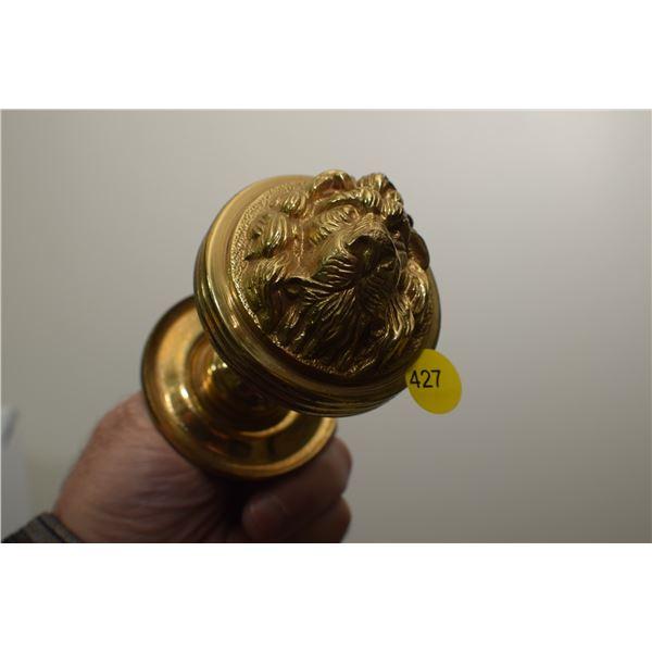 Heavy solid brass door pull