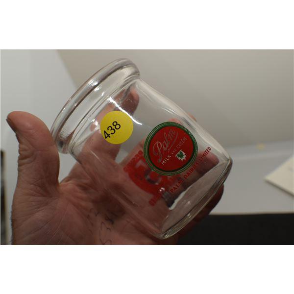 Rare wide mouth palm Cream bottle