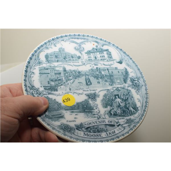 Antique Moose Jaw plate
