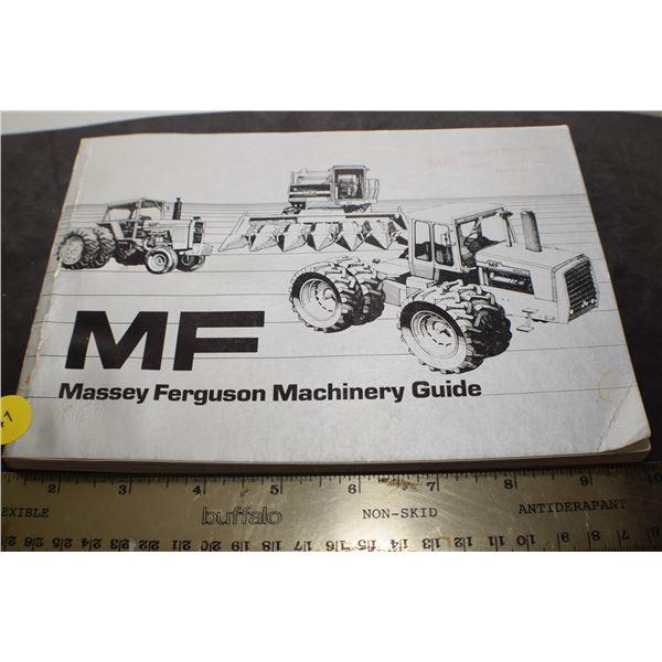 Vintage Massey Ferguson catalog