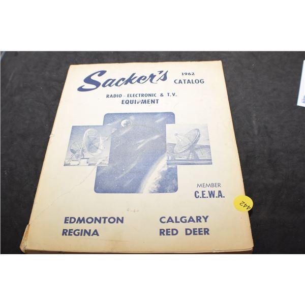 1962 Radio/TV catalog tube amp stereo speakers