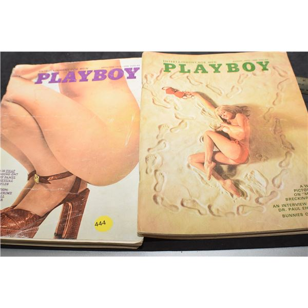 Vintage Playboys 1970 & 1973