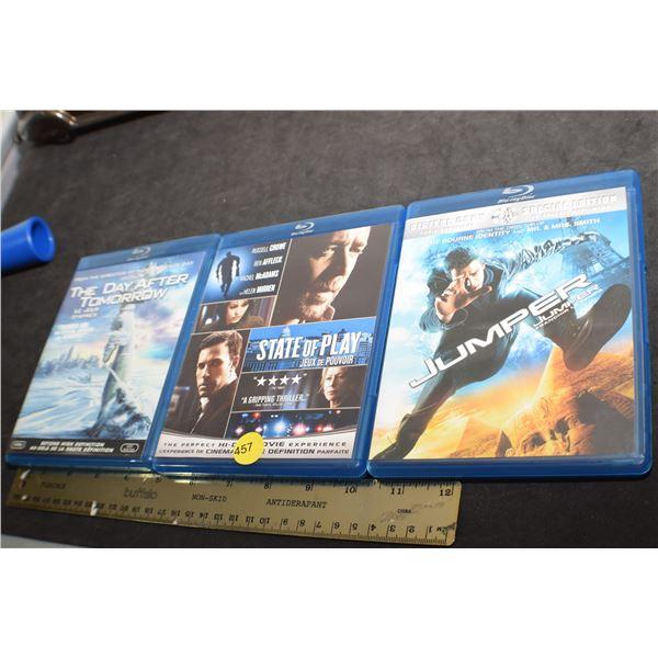 Blu-Ray movies X 3