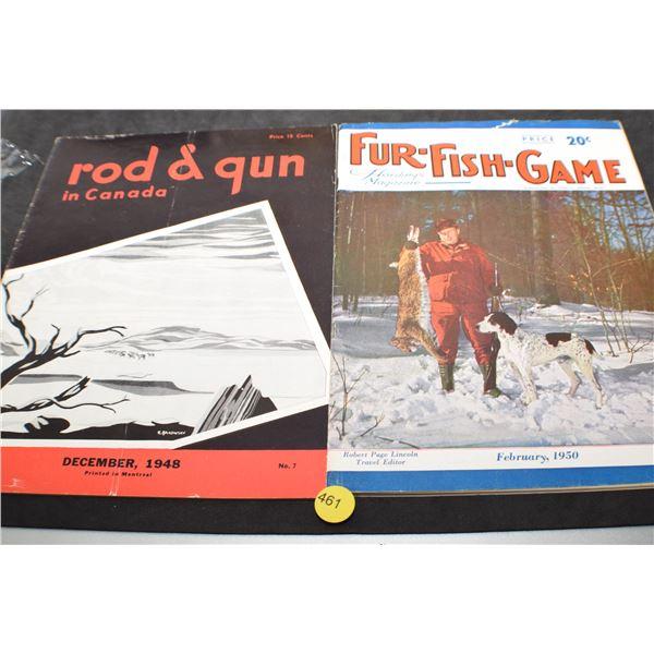 1948 & 50 Fishing & Hunting magazines