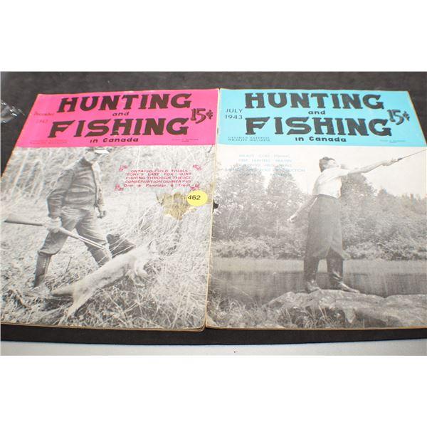 1943 Fishing & Hunting magazines