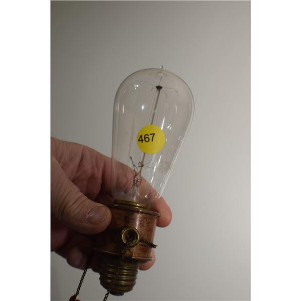 Very Old Light Bulb & Socket