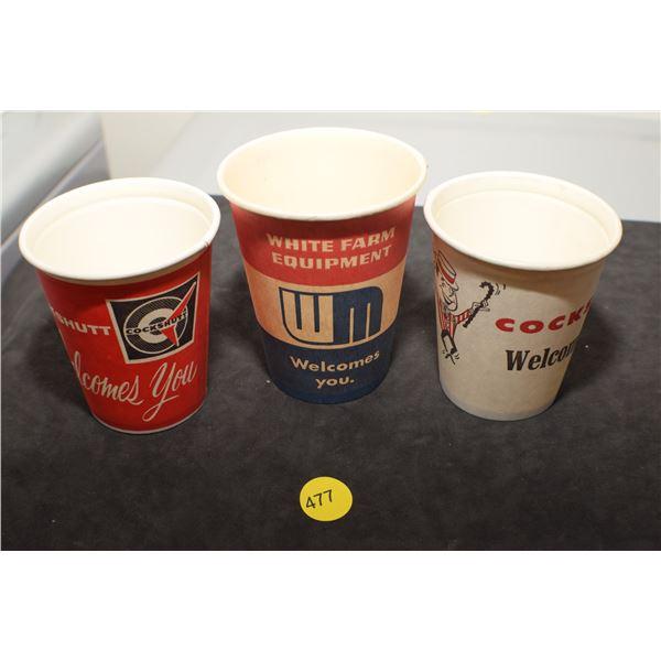 Cockshutt & White vintage cups