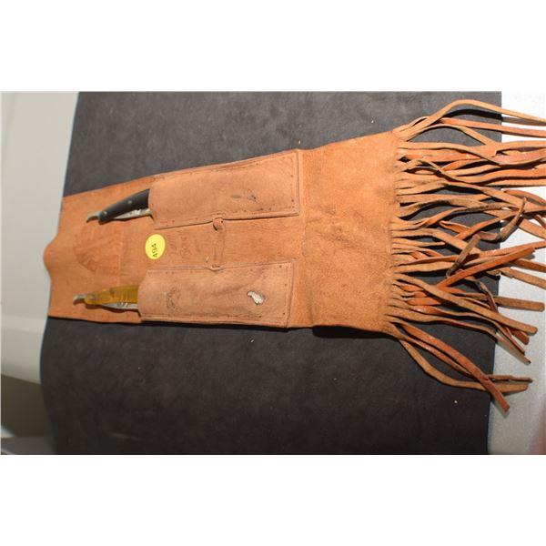 Straight Razor set & leather hangers (very nice razors)