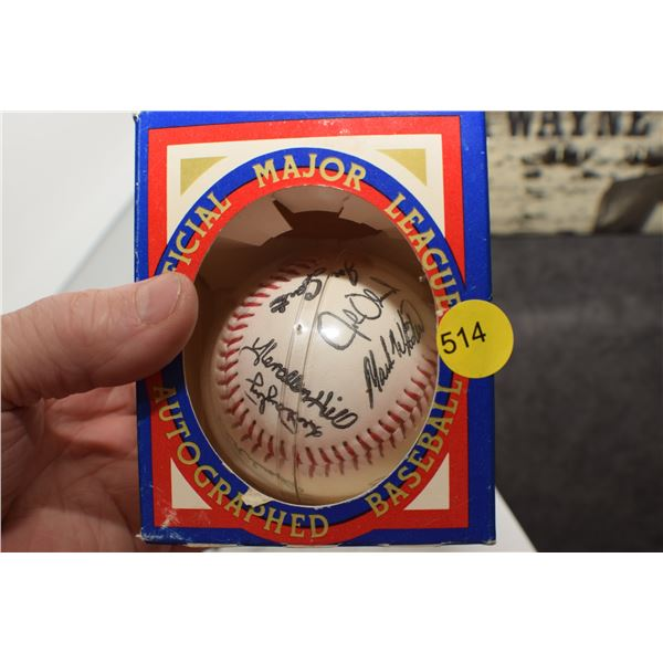 1982 Signed NOS Baseball
