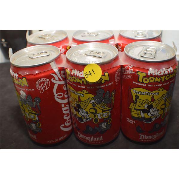 Disneyland Coca Cola cans
