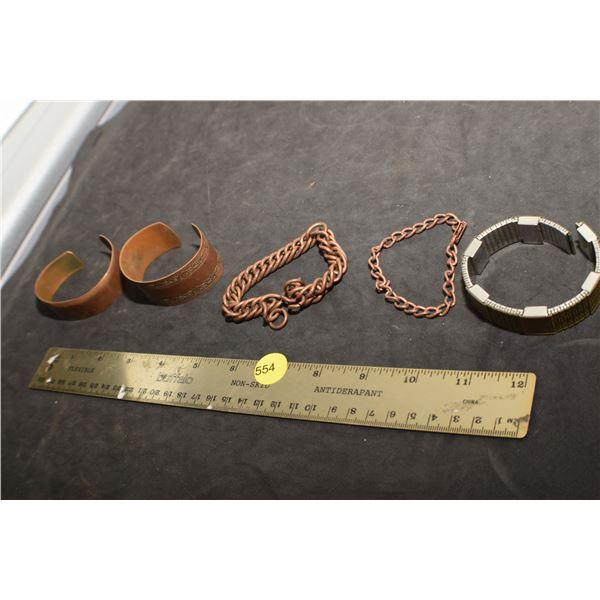 Vintage Copper Bracelets & Magnetic watch band (medical)