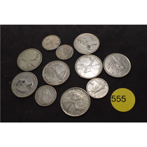 Vintage Canada Silver coins