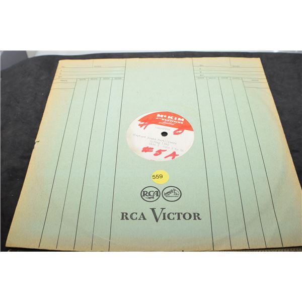1962 Elephant fertilizer  - radio ad on record