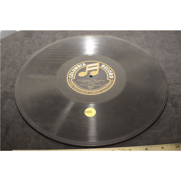 """12"""" 78 RPM Soldiers March 1906"""