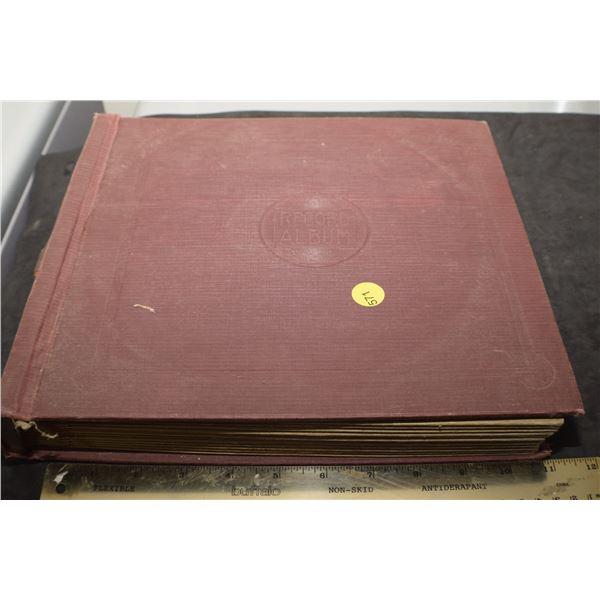"10"" 78 RPM 10 record volume Wilf Carter"