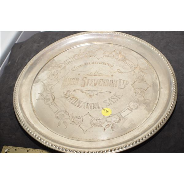 Antique Shaunavon, Sask tray
