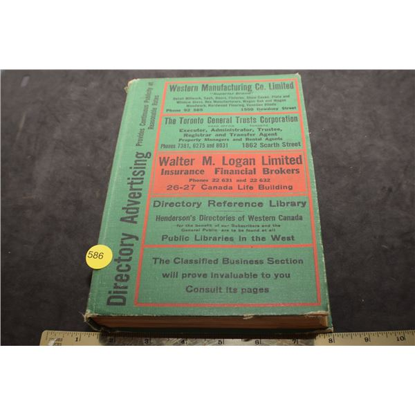 WW II 1943 Regina Business Directory