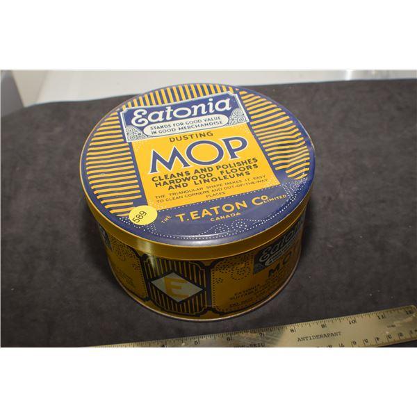 Antique Eaton's mop tin