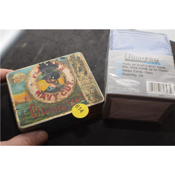 Players Tobacco Tin & Trading card