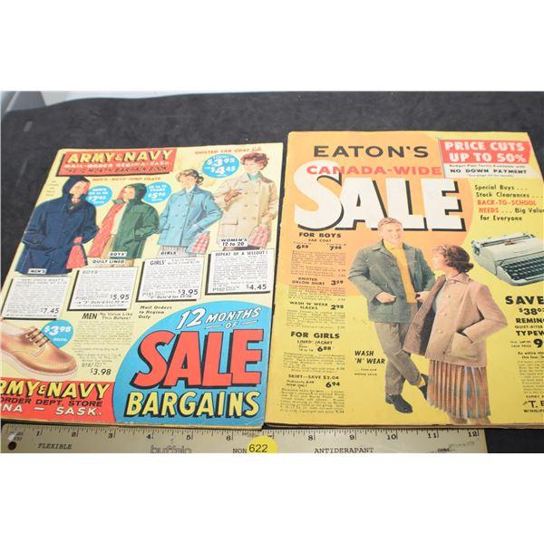 Vintage Army/Navy & Eaton's catalogue