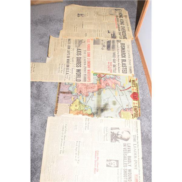 WW II Leader Post Covers