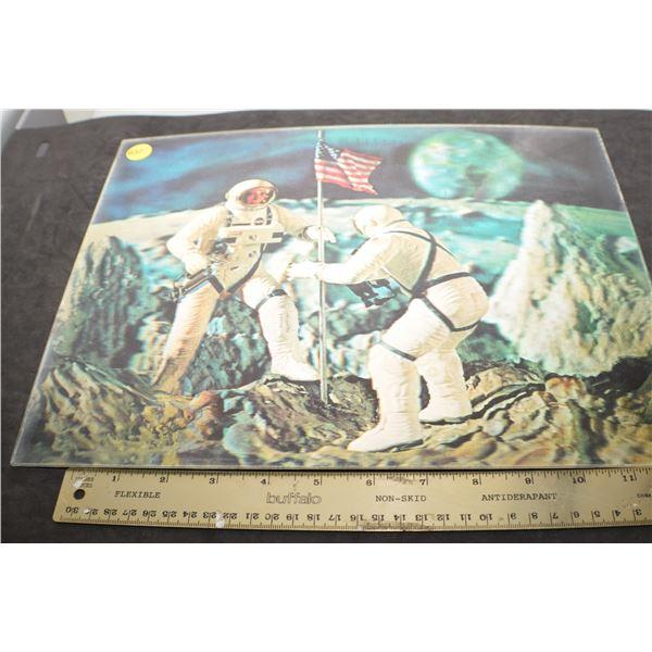 1960's 3D Lenticular Moon landing