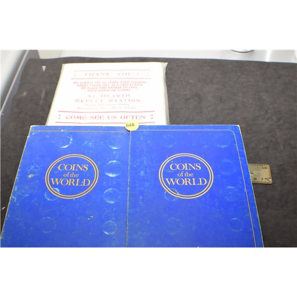 Gulf Coins of the World NOS Skelly Oil napkins