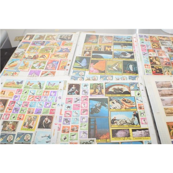 6 Stamp pages (all 2 sided)
