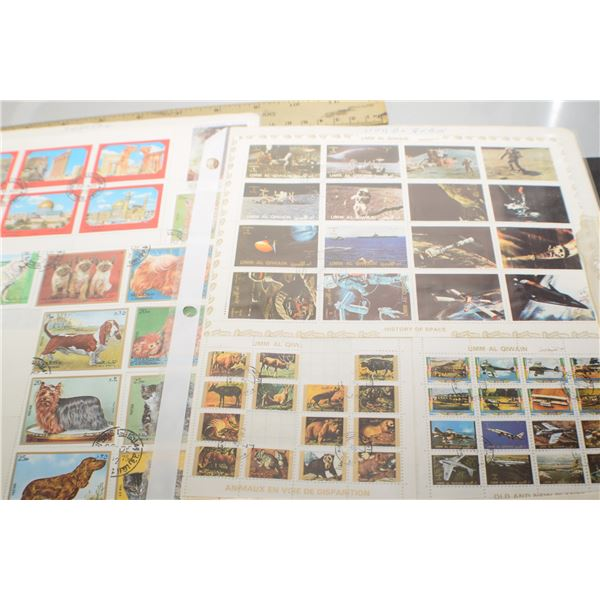 5 Stamp pages (all 2 sided)