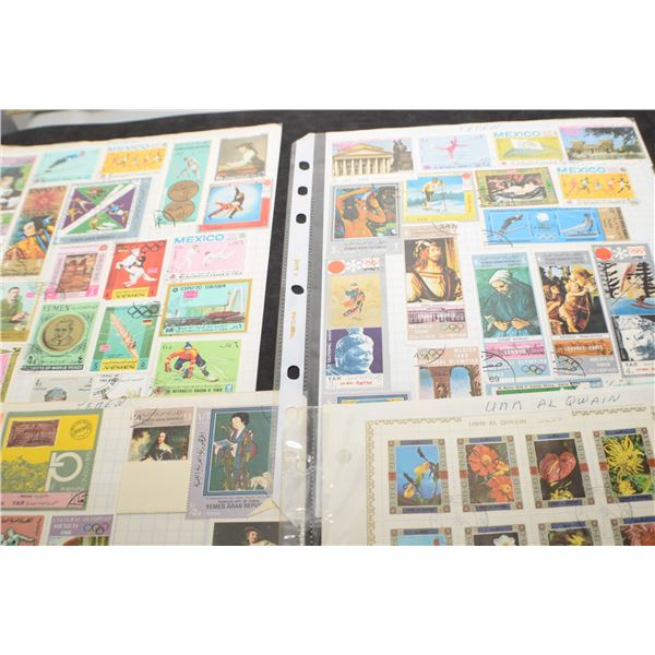 4 Stamp pages (all 2 sided)