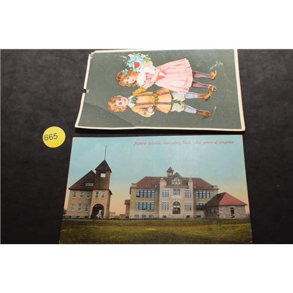 Nutana School postcard etc
