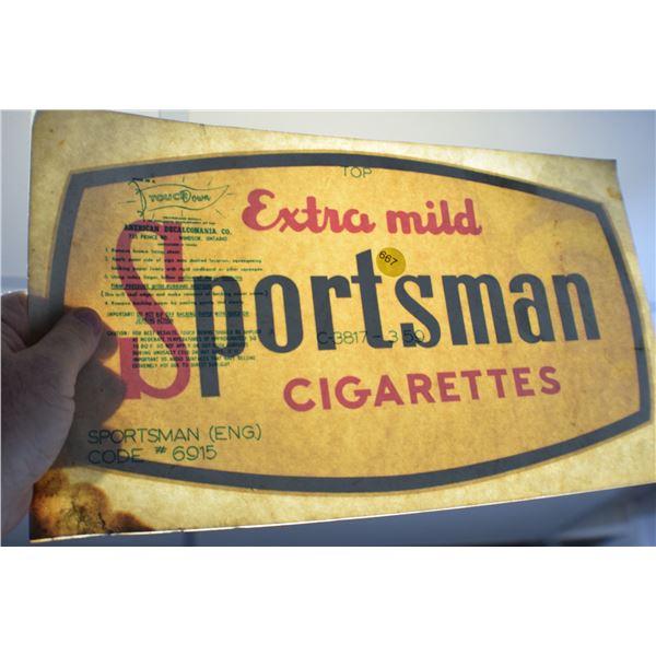 1959 Sportsman cigarette decal