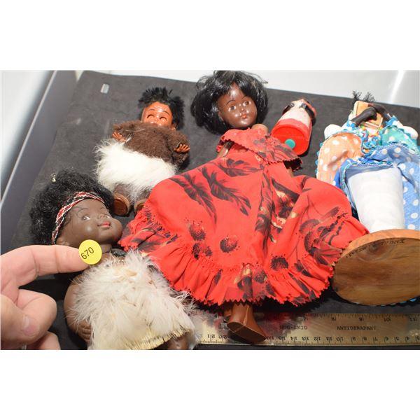 Black Doll lot as is