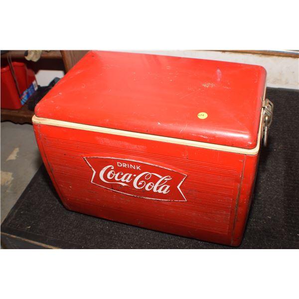 Antique Coca Cola chest (fishtail)