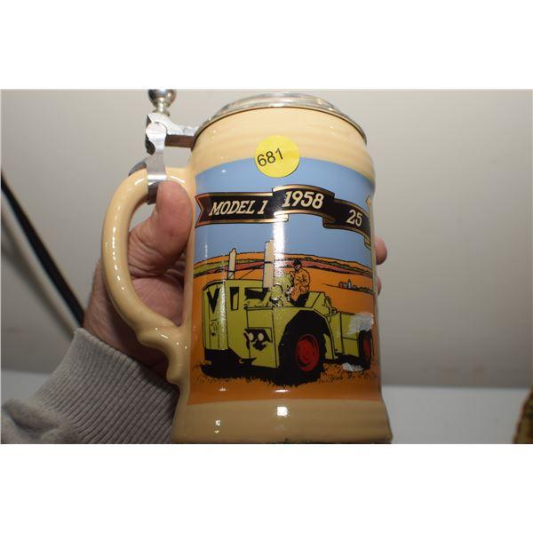 Steiger Tractor Beer Stein