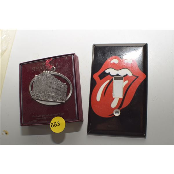 Nova Scotia Pewter Ornament & Rolling Stones switch cover