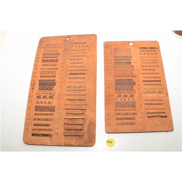 Antique Carpenters inlaid wood samples