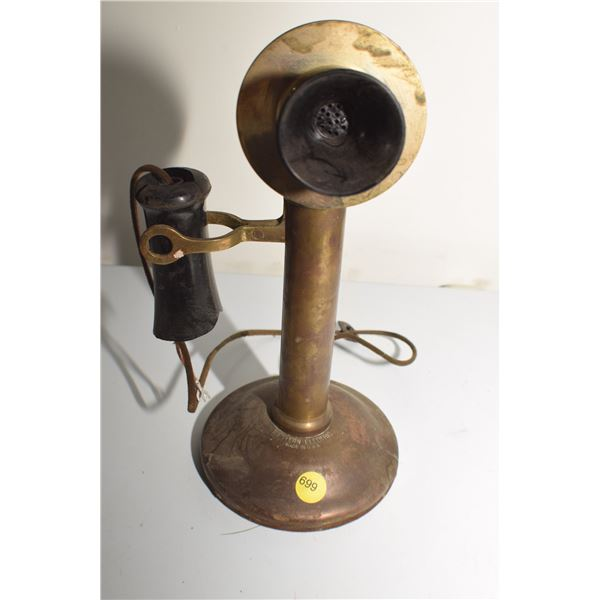 1915 Western Electric Candlestick brass telephone
