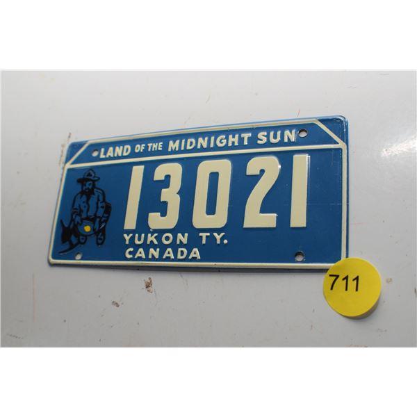 1953 Wheaties Mini License plate Yukon