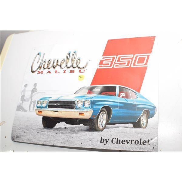 Chevrolet Malibu Tin Sign
