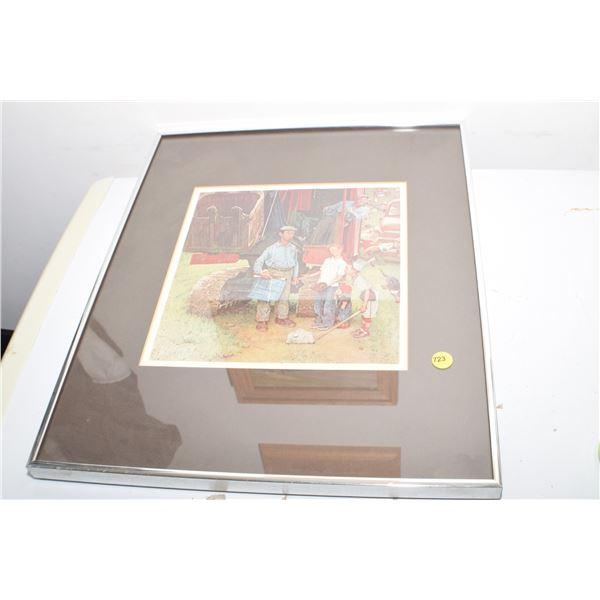 Rockwell framed print 16 X 20