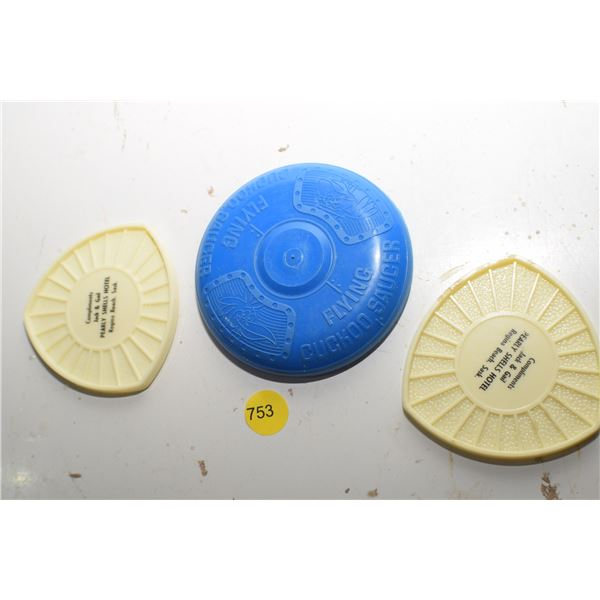 Flying Saucer toy, etc.