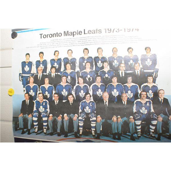 1973 Toronto Maple Leafs calendar 1 page