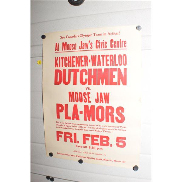 Vintage Moose Jaw Pla-mour poster