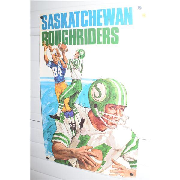 """24 X 36"""" Vintage Roughriders CFL poster"""