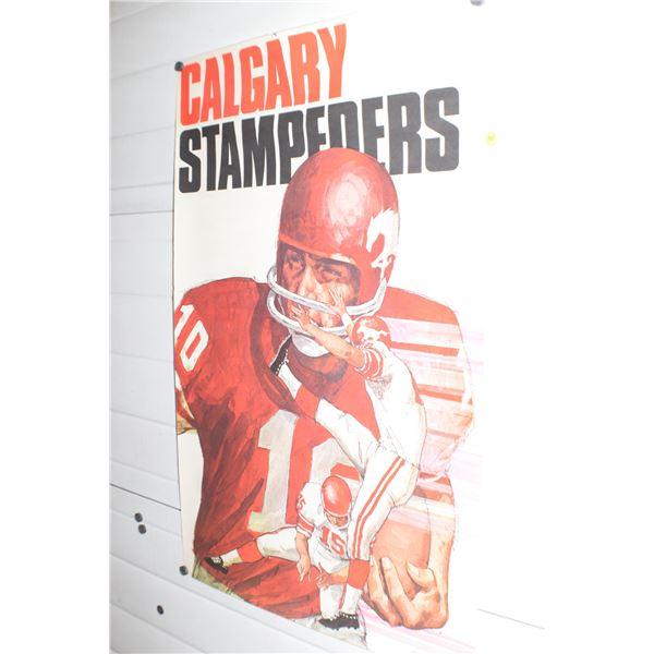 """24 X 36"""" Vintage Calgary Stampeders CFL poster"""