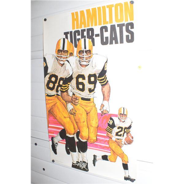 "24 X 36"" Vintage Hamilton TI-Cats CFL poster"
