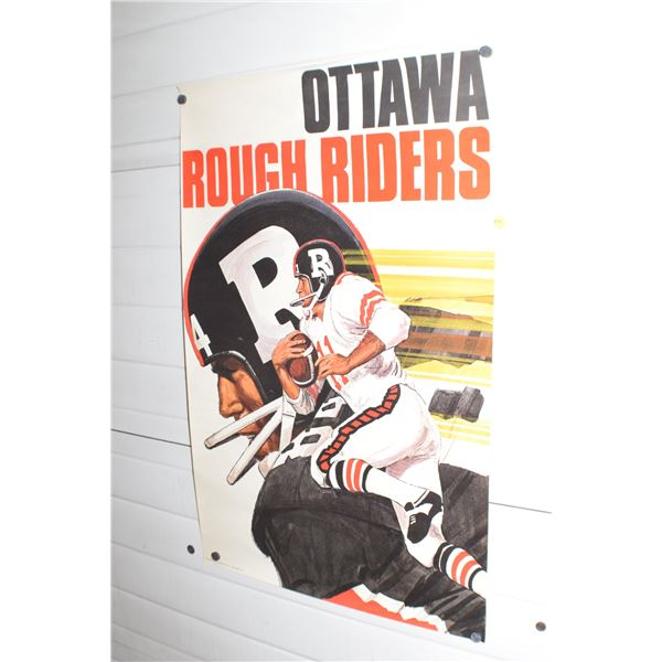 """24 X 36"""" Vintage Ottawa Roughriders CFL poster"""